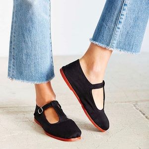 Urban outfitters cotton Mary Jane shoes